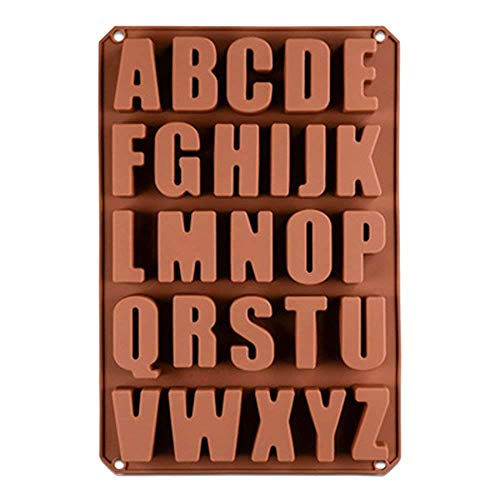 26 Cavities Alphabet Silicone Cake Baking Mold Biscuit Chocolate Ice Cube Tray DIY Handmade Soap Moulds -
