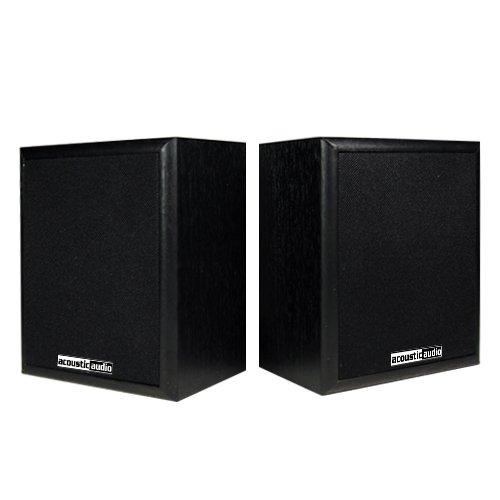 (Acoustic Audio RW-SP3 Bookshelf Speakers 100 Watt 2 Way Home Theater Audio Pair)