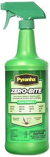 Pyranha Zero-Bite All Natural Fly Spray, 32 Ounce (Natural Fly All Spray)