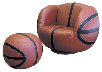 Amazon.com: Polaris Baloncesto silla y Ottoman Set: Kitchen ...
