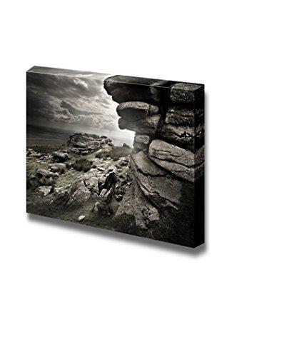 Beautiful Scenery View Dramatic Wild Moorlands Rocks Wild Landscape from Dartmoor Uk Wall Decor ation