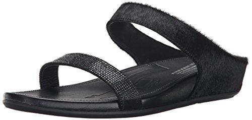 Microcrystal Slide Fitflop Sandalias Pony Mujer Negro Hair Banda qwgAgI