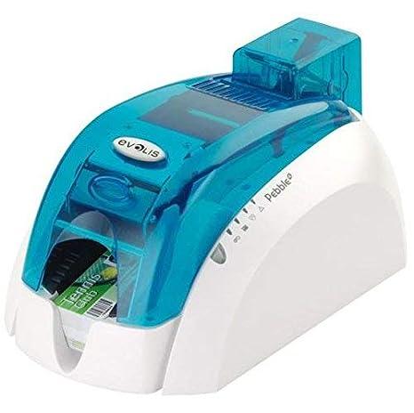 Azul Evolis Pebble 4 Plástico Impresora de Tarjetas Id: Amazon.es ...