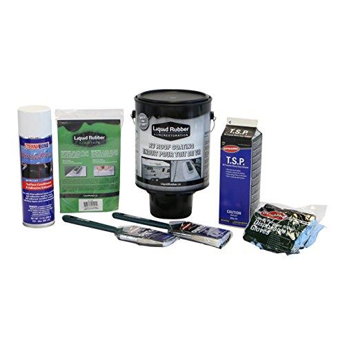 (Liquid Rubber RV Roof Coating/Sealant 1 Gallon Repair Kit - Includes RV Coating, 4