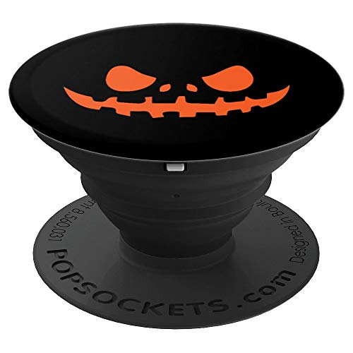 Scary Costumes Simple - Pumpkin Face Scary Halloween Costume PopSockets