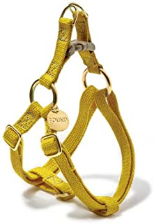 product image for Found My Animal Yellow Cotton Cat & Dog Harness, Medium