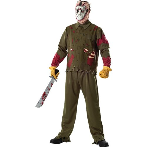 [Friday The 13th Jason Voorhees Deluxe Adult Costume Size: X-Large (44-46)] (Deluxe Jason Adult Costumes)