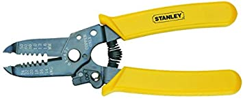 Stanley 84-475-22 Wire Stripper with Cutting Edge, Yellow: Amazon ...