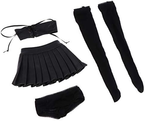1 / 3 BJDドール用 魅力的な 人形タブトップ スカート  パンツ 1ペアストッキング 可愛い 贈り物