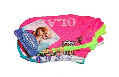 5 Pair Girls Disney Frozen Character Socks (Size 4-7 .