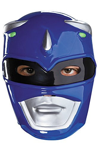 Blue Ranger Vacuform Costume Mask,Blue/Silver/Black,One Size Adult (Blue Power Ranger Costume)