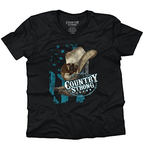 - Country Strong Shirt | Luke Bryan Cowboy Sassy Cowgirl Cool V-Neck T-Shirt