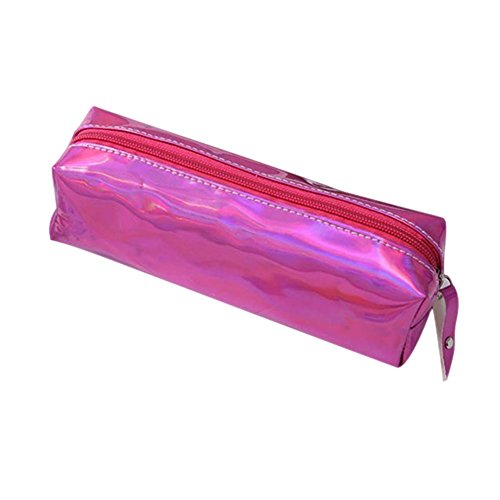prueba Bolsas de Purple mujeres Bolsa almacenamiento agua a de maquillaje cosméticos cremallera Estuche Lápiz con para Majome de de w6Cq1nT