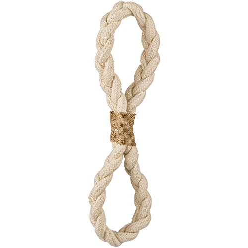 - Leaps & Bounds Rope Tug Figure Eight Dog Toy in White, 12