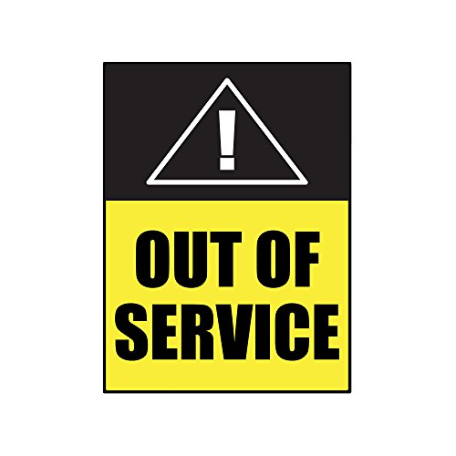 Out Of Service Sign - Made of PVC - 4 Pack - With Double Adhesive Tape - Get People To Obey Command Without Spending Energy Voicing Out The Statement - For Office, Home, Business by Kaba Flair