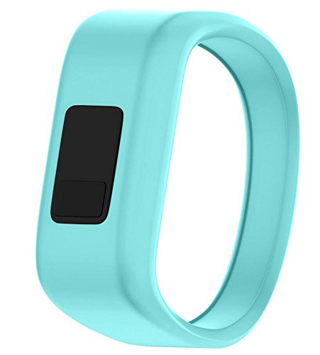MyFitBands Band Compatible with Garmin Vivofit JR JR2 Junior Replacement Sports Wristband - Secure Watch Strap Teal Small