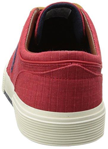Polo Ralph Lauren Mens Faxon Low Fashion Ripstop Sneaker Rood