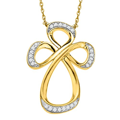 Jessica Simpson Diamond Cross in 10K Yellow Gold by Fancy Jessica Simpson
