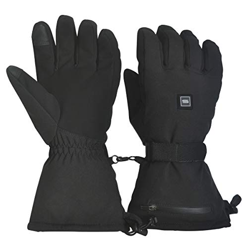 Sunbond Rechargeable Heated Gloves,3600mah Li-Ion Batteries for Quick &...