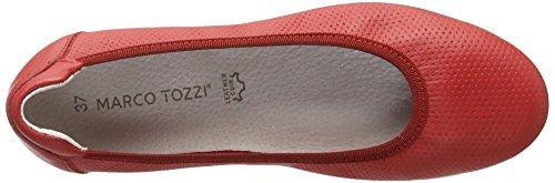 Marco Tozzi Premio 22120, Bailarinas Para Mujer Rojo (Chili 533)