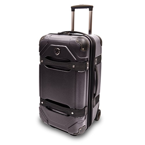 Traveler's Choice 24 Inches Polycarbonate Luggage Trunk, Black (TC09025) (Trunk Suitcase)