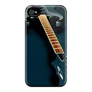 Top Quality Case Cover For Iphone 4/4s Case With Nice Electric Guitar Music Song Appearance