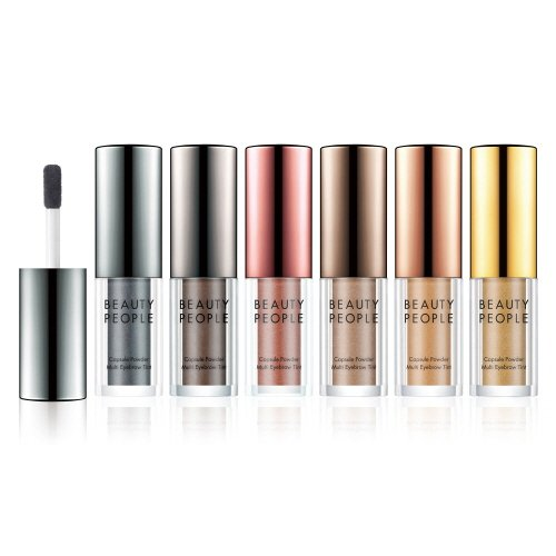Beauty People Capsule Powder Multi Brow Tint (1g) Eyebrow, Hair Line Cover Up (6 COLORS) (#02 COFFEE BEAN POWDER) (1g Tint)