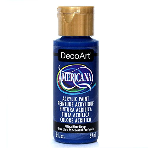 DecoArt DA100-3 Americana Acrylic Paint, 2-Ounce, Ultra Blue Deep Blue 2 Oz Americana Paint