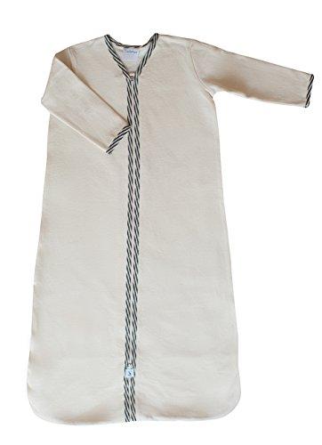 CastleWare Baby Long Sleeve Fleece Sleeper Bag (XXL 18-36 Mos., Charcoal Grey Stripe) by CastleWare Baby