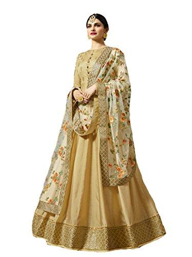 Indian Wear & Ethnic Wear Anarkali Salwar Suit Kasheesh Rajmahal (Beige, ()