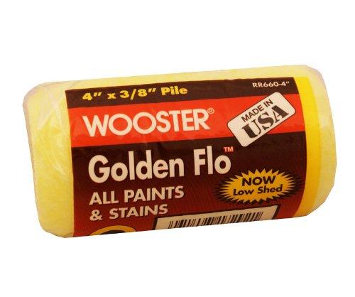 (Wooster Brush RR660-4 Golden Flo Roller Cover, 3/8-Inch Nap, 4-Inch)