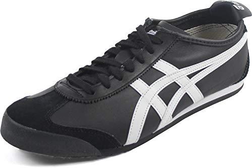 Onitsuka Tiger Mexico 66 Fashion Sneaker, Black/White, 10 M Men