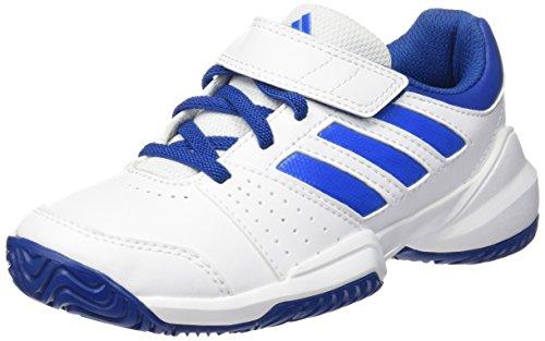 adidas Kidscourt EL C -  Zapatillas de tenis, Unisex infantil Blanco / Azul