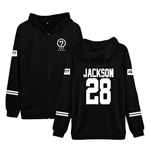 Kpop GOT7 Concert Hoodie Jackson BamBam JB Mark Album MAD Zipper Sweater