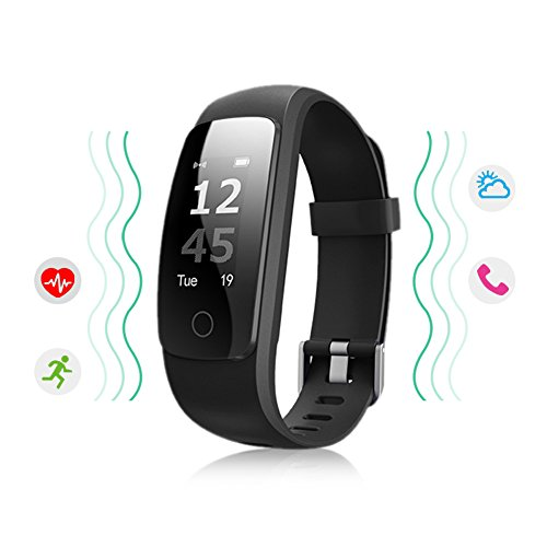 Ikeepi Fitness Tracker Heart Rate Monitor Sleep Monitor Calorie Counter Waterproof Multi Sports Mode Activity Tracker Smart Watch for iPhone & Android Phones
