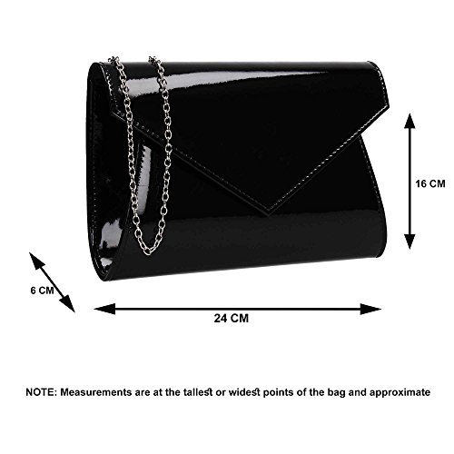 Party Patent Womens Ladies Prom Bag Lenny Leather Clutch Metallic Champagne Envelope Wedding SWANKYSWANS HUgqqp4