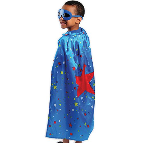 U.S. Toy Superhero Star Cape Blue/Red ()