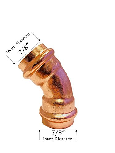 - Libra Supply Lead Free 3/4 inch Press Copper 45 degree Elbow, Press x Press, (Click in for more size options), 3/4'', 3/4-inch copper pipe fitting plumbing supply