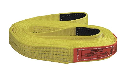 "Liftall TS1802DX30 Webmaster 1600 Polyester Web Tow-All 1-ply Vehicle Strap, 2"" x 30"