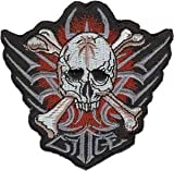 Tribal Skull Red - Skulls - Iron on or Sew on