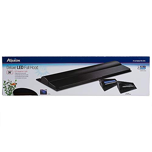 Aqueon LED Deluxe Full Hood, 36 Inch, For Glass Top Aquariums
