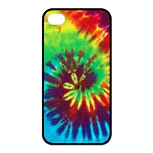 Treasure Design Tie-Dye Apple iPhone 4/4S Best Silicone Cover Case