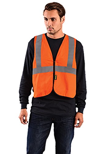 Stay Warm - VALUE Flame Resistant Hi-Viz Vest - 4X/5X-HI-VIZ ORANGE-PACK OF 6 by Haynesville