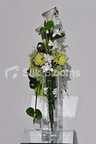 Amazon Tall White Calla Lily Green Gerbera And Anthurium