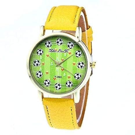 268e784dfc35 DressLksnf Reloj Original Moda de Mujer Pulsera Deportiva Banda de Cuero  Reloj Cadena Ajuste Elegante Color Puro