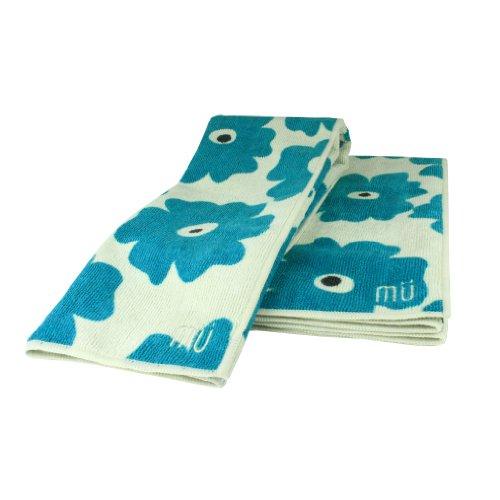 UPC 811700012404, MUkitchen Microfiber Dishtowel, 16 by 24-Inches, Blue Poppy