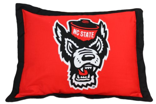 Nc State Pillow - College Covers NCAA North Carolina State Wolfpack Licensed Throw Pillow or Decorative Pillow, 20