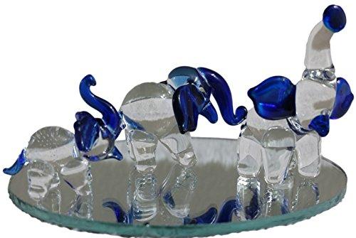 Lucky Elephant Art Glass Figurine - 1