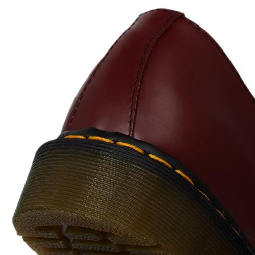 Dr. Martens Air Wair 1461 Donna Rosso Pelle Scarpe Stringhe Nuovo EU 39