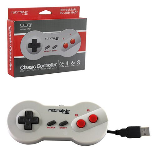 Retro Link NES Dogbone Controller USB Wired for PC and Mac